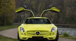 Mercedes-Benz SLS AMG Electric Drive for sale. The asking price is heart-stopping
