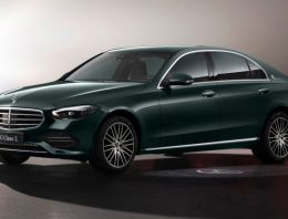 Mercedes-Benz at the Shanghai Motor Show. The long-wheelbase C-Class makes its debut