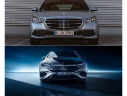 First comparison: Mercedes EQS 580 4Matic vs Mercedes S 500 4Matic long