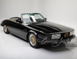 Mercedes-Benz 380 SL Roadster from 1981 crosses the auction block. It's got real gold-plated inserts!