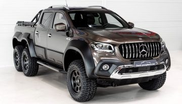 A one-off Mercedes X-Class 6×6 sold