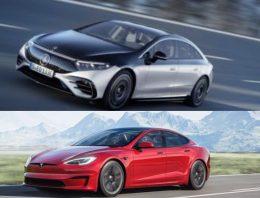 First comparison: Mercedes EQS vs Tesla Model S