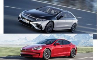 First comparison: Mercedes EQS vs Tesla Model S