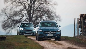 Mercedes GLA 250 e vs Mini Countryman SE All4: more electric range and better equipped