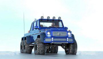 Arctic Trucks develops the Mercedes-Maybach G-Class 6×6 Hakkapeliitta polar explorer