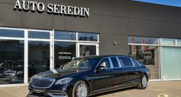 A very rare armored Mercedes-Maybach S 650 Pullman for sale for almost 2 million euros