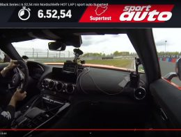 Sport Auto Magazine set a new record at the Nurburgring with Mercedes-AMG GT Black Series: 6:52.54 min (video)