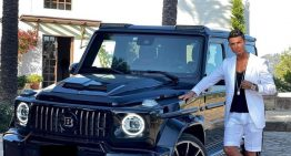 Cristiano Ronaldo posted his Mercedes-AMG G 63 Brabus on Instagram and received 15 million reactions
