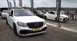 How did they dare bother the king? Brabus 800, challenged by modified minis and compact cars