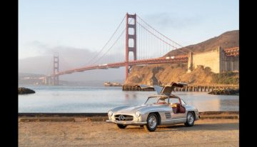A 1955 Mercedes 300 SL for sale at a Bonhams auction starting at 1.3 million USD