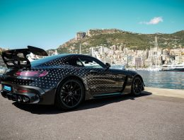 Mercedes-AMG driver, Valtteri Bottas, has his new Mercedes-AMG GT Black Series delivered
