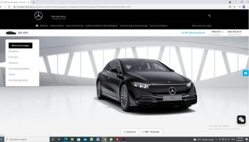 The first equipment comparison between Mercedes EQS 450+ and Mercedes S 450 4Matic