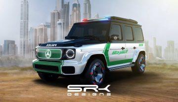 Mercedes EQG wears Dubai Police livery to fight digital crime