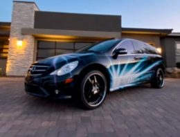 A Mercedes-Benz R-Class that The Rolling Stones used during world tour goes under the hammer