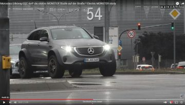 One-off Mercedes EQC 4×42 spied in tests in front of Mercedes prototypes convoy