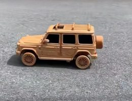 Somebody actually carved a wooden Mercedes-Benz G-Class and it looks fantastic